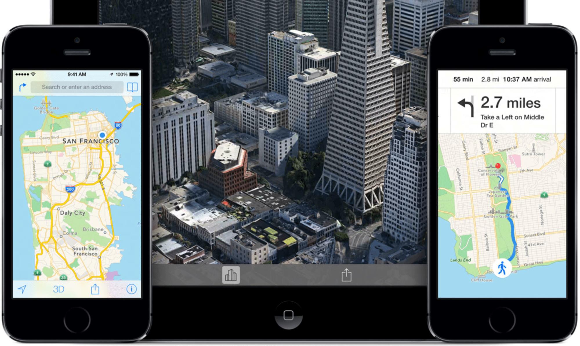 Apples aktuelle Karten-App in iOS 7.
