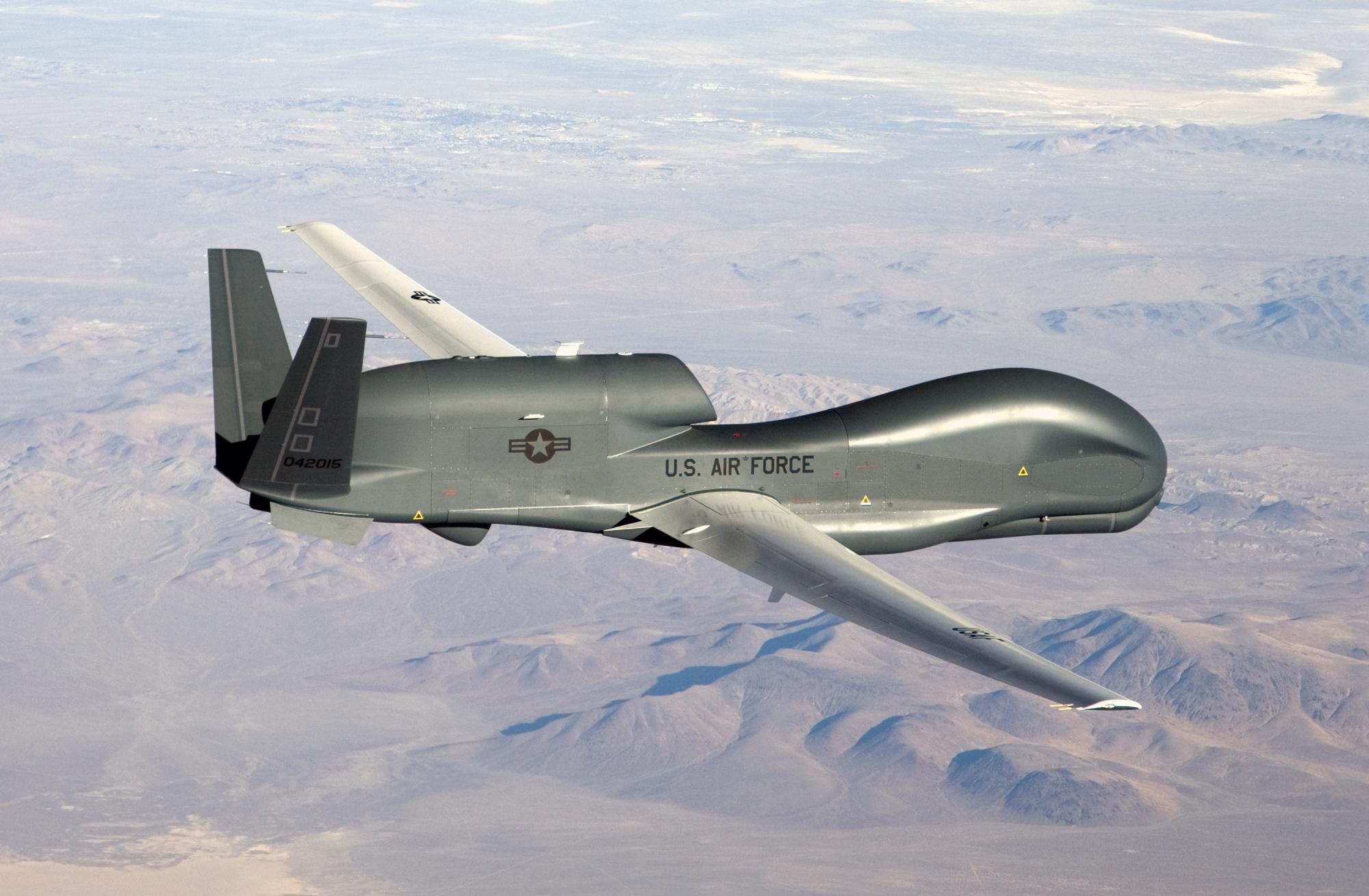 "Eine Drohne ""Global Hawk"" der US Air Force"