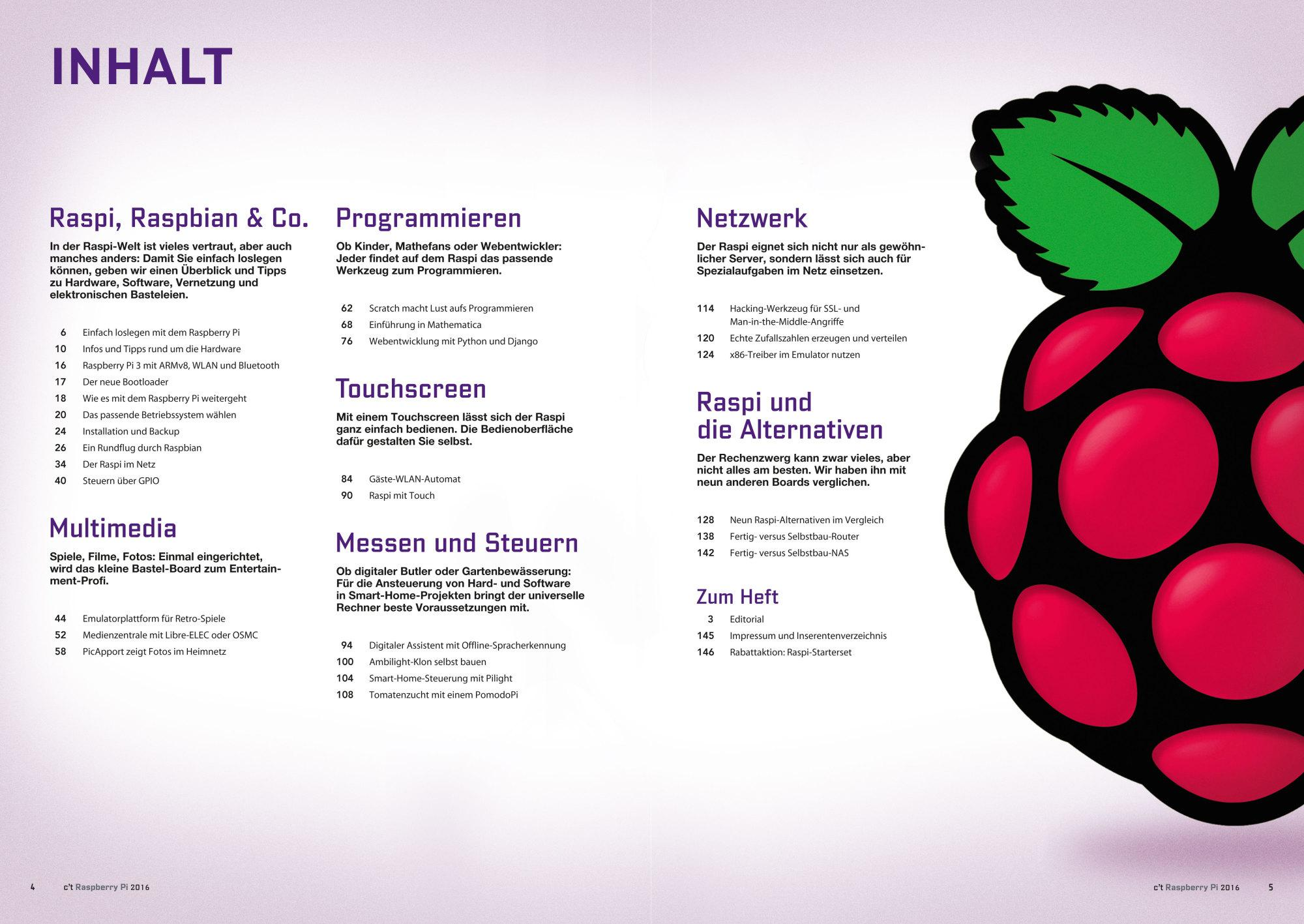 Sonderheft c't Raspberry mit und ohne Starterset