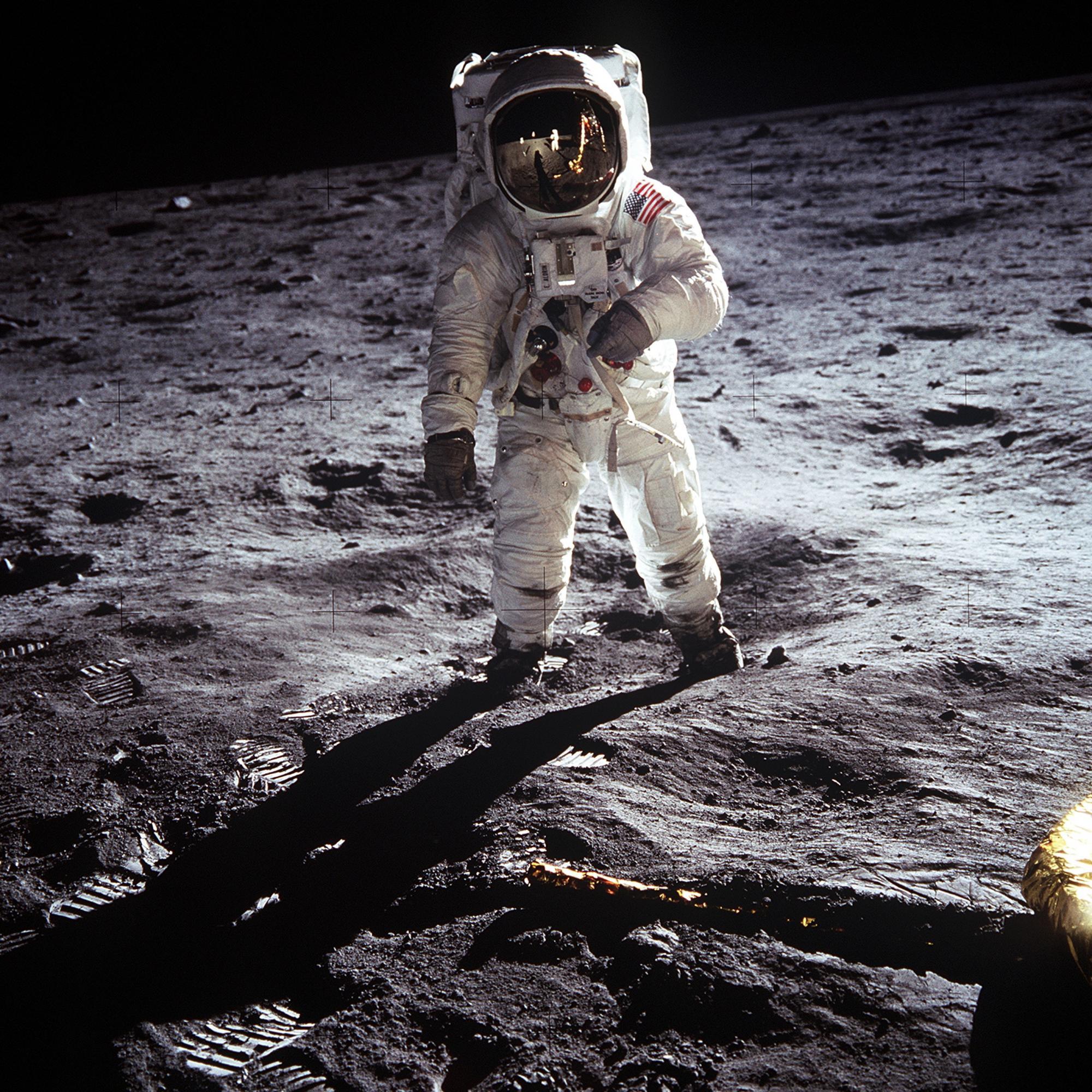 Astronaut voll ausgeleuchtet