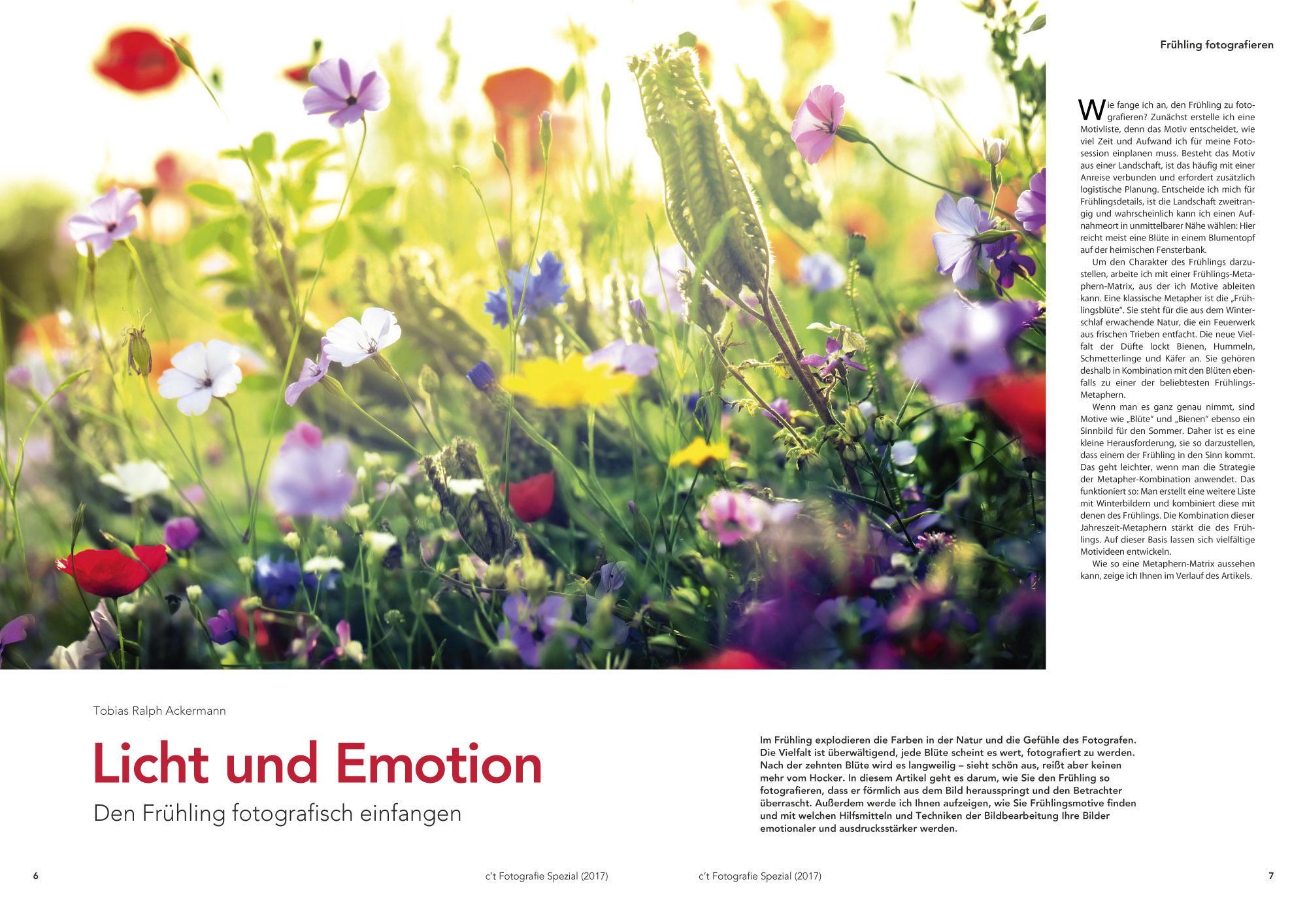 Tobias Raphael Ackermann erklärt Ihnen, wie sie den Frühling mit seinem frischen Charme auf Bildern einfangen können.