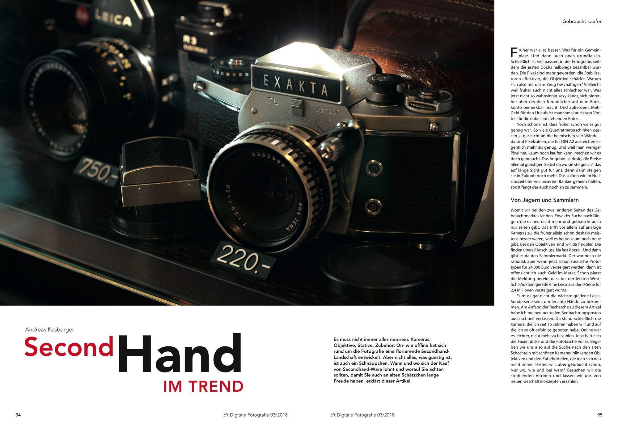 Andreas Kesberger erklärt, wann sich der KAuf von gebrauchter Fototechnik lohnt.