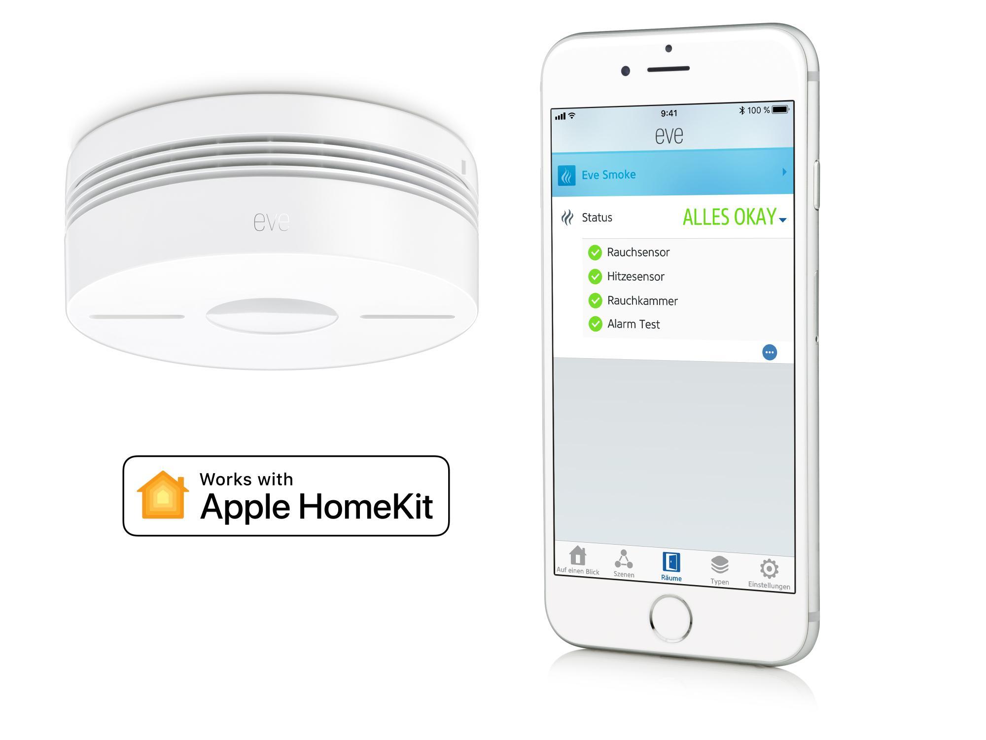 eve smoke rauchmelder mit homekit anbindung kommt in den handel mac i. Black Bedroom Furniture Sets. Home Design Ideas