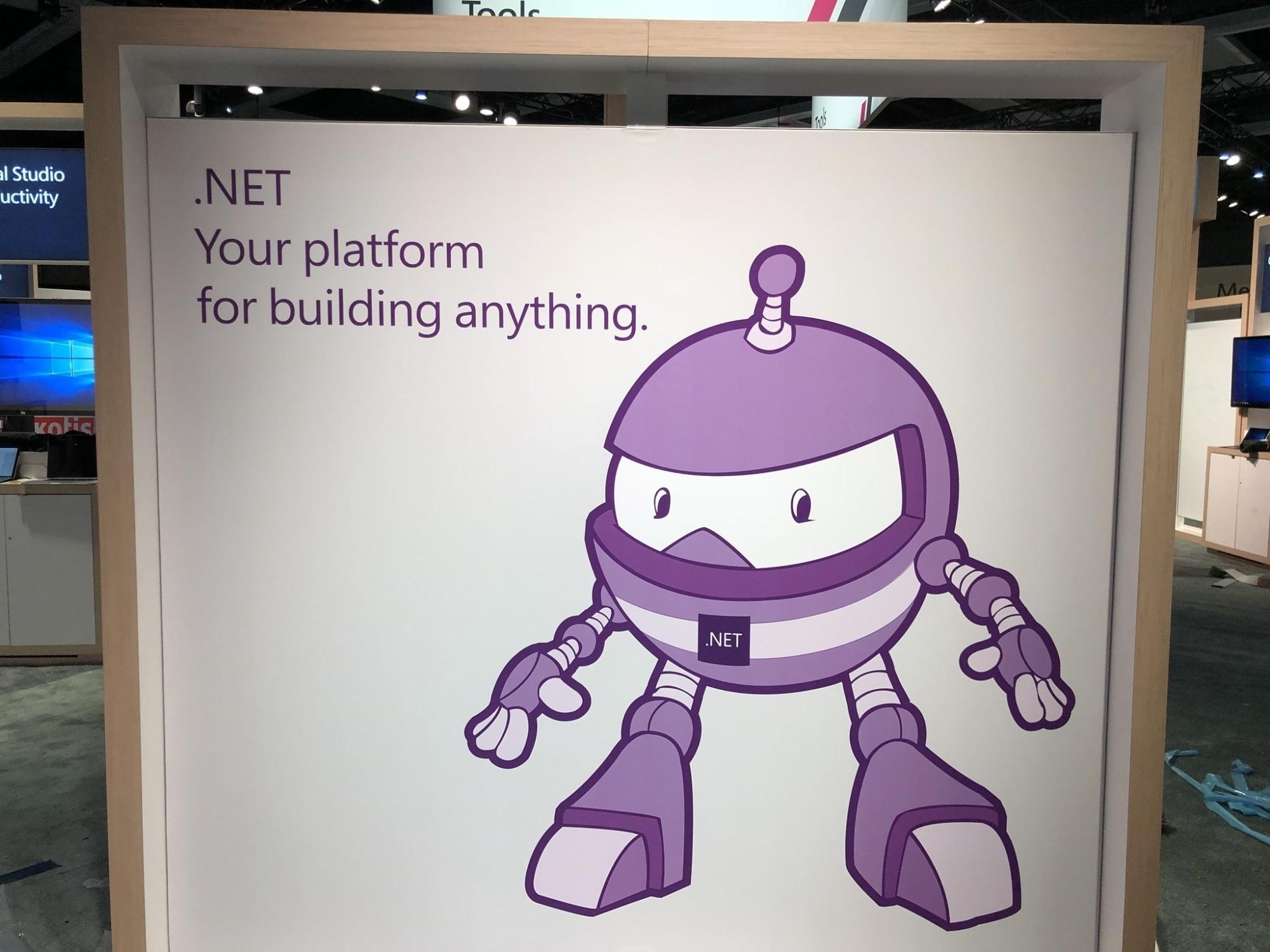 .NET 2018会议上的.NET Core展台