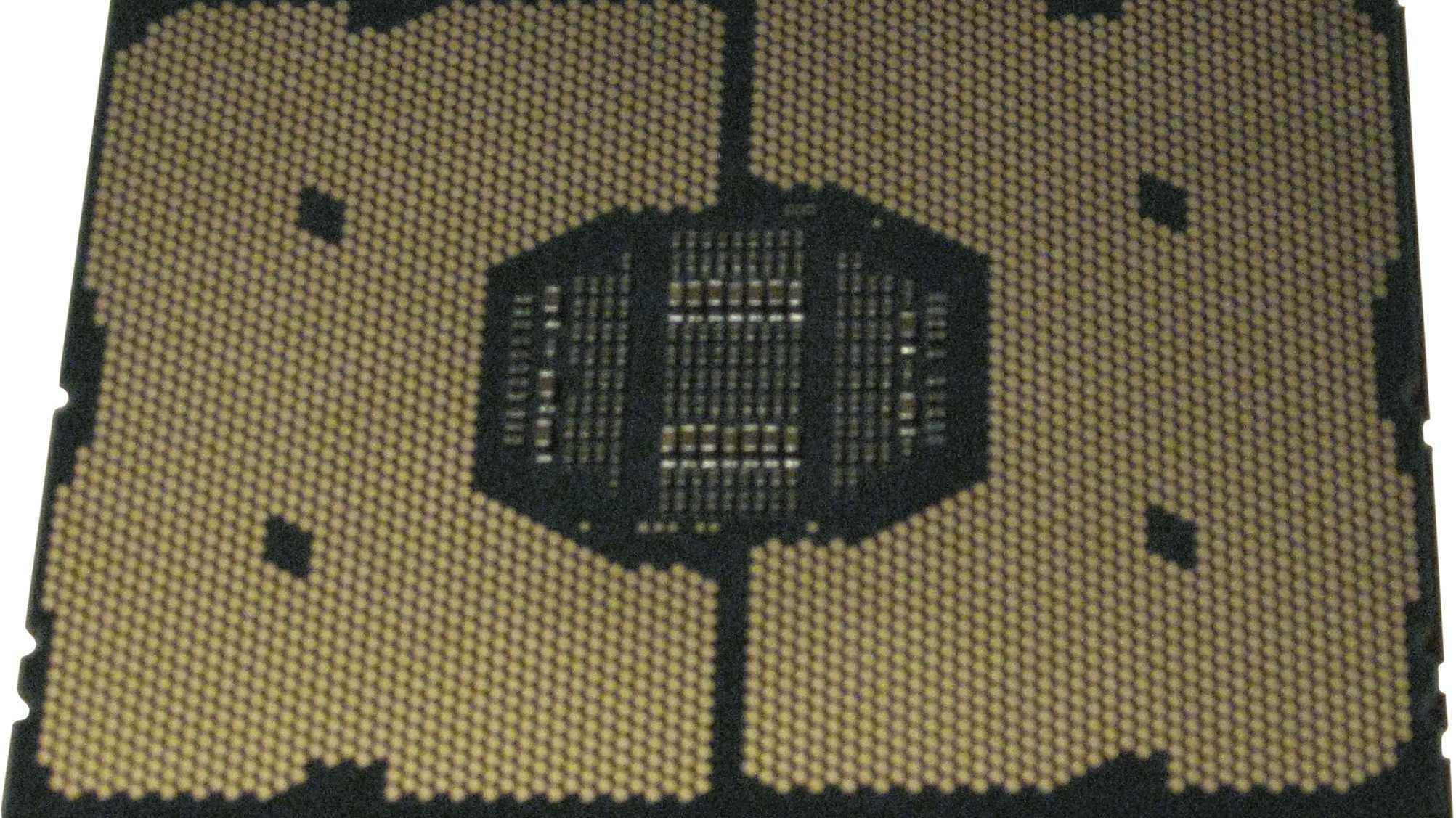 """Intel-Prozessorfassung """"Socket P"""" mit 3500 Kontakten"""