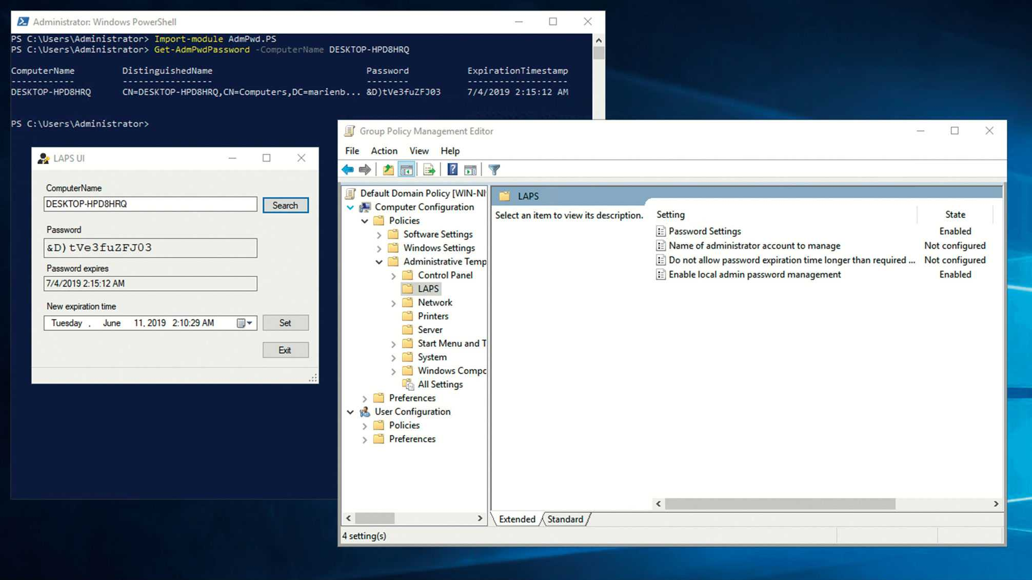Lokale Admin-Passwörter in der Windows-Domäne verwalten