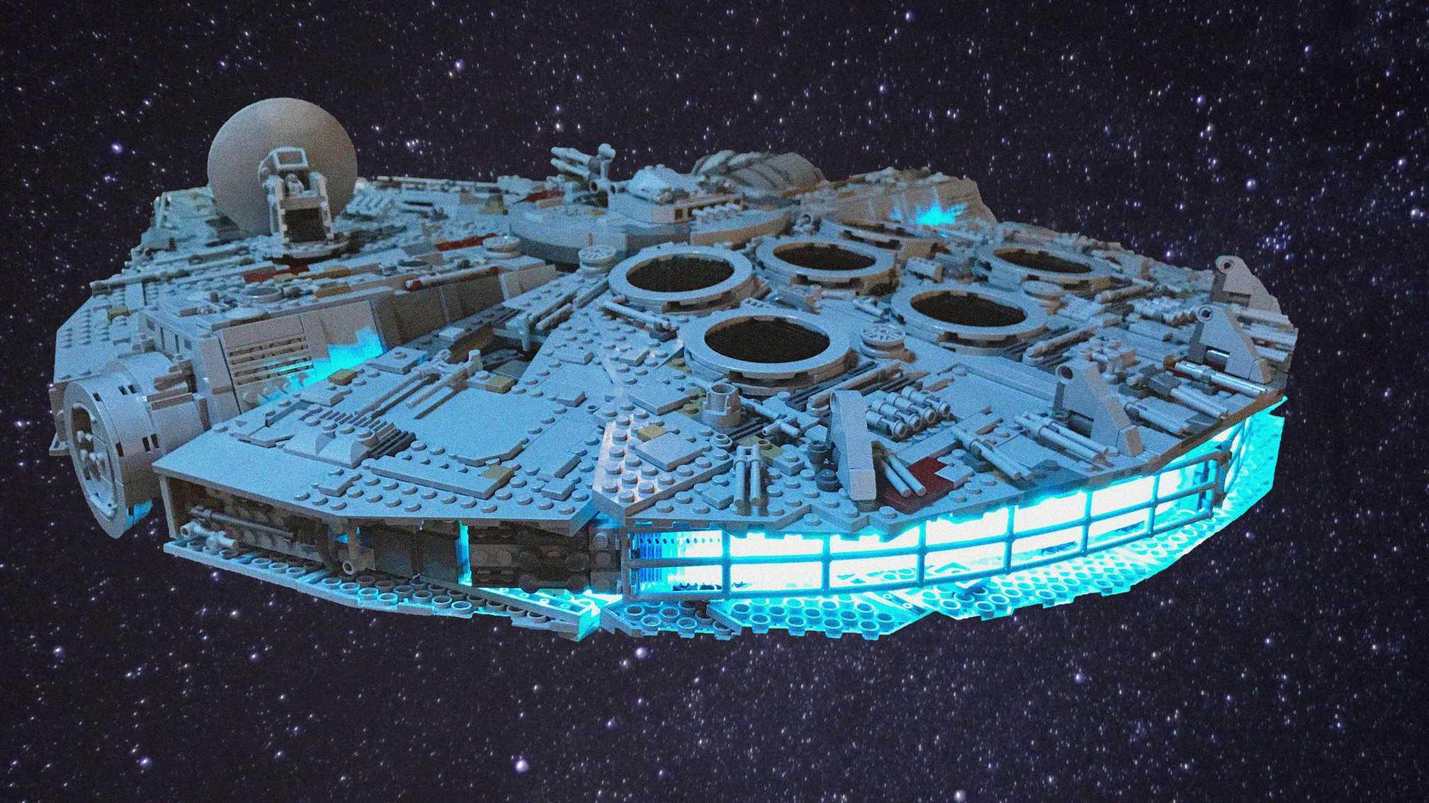 Zeitraffer: Lego Millennium Falcon in Rekordzeit gebaut