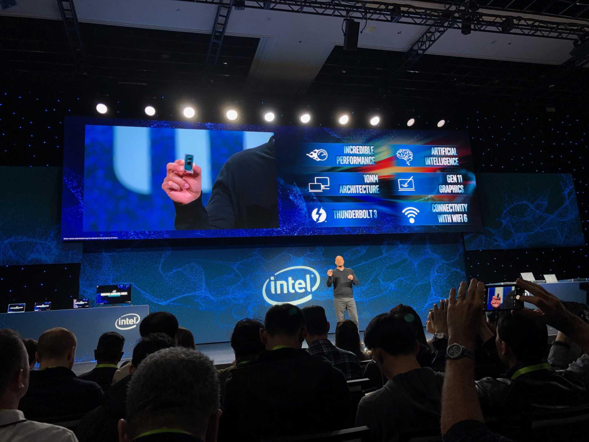 Intel zeigt eine Ice-Lake-SoC...