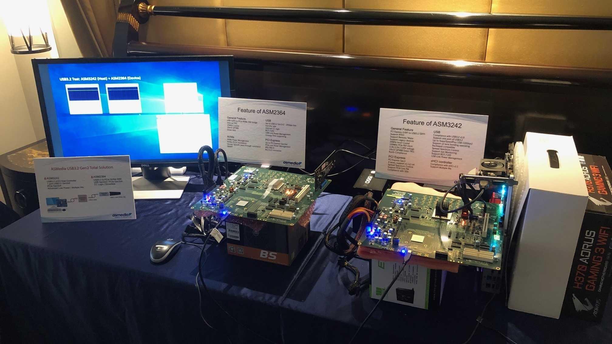 ASMedia demonstriert USB-3.2-Controller
