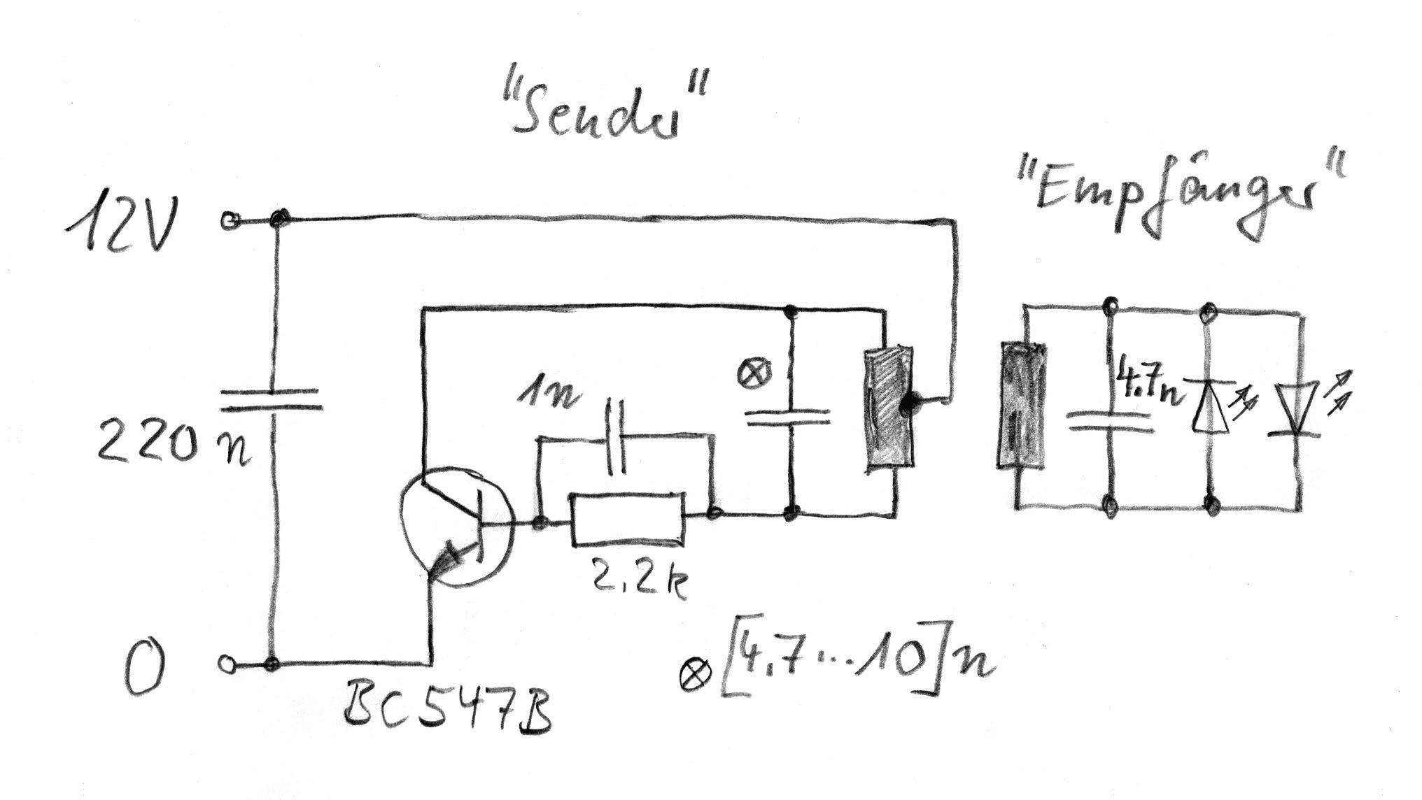 Schaltung Sender- und Empfänger-Oszillator