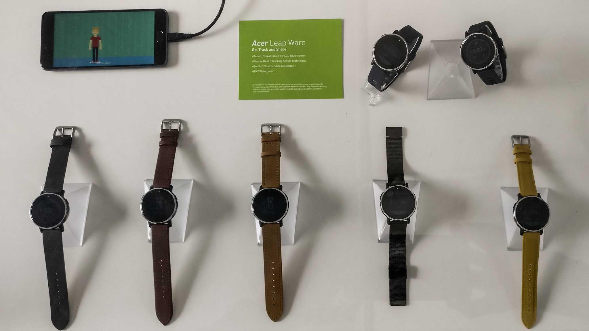Acer Holo 360 und Leap Ware: 360-Grad-Kamera mit LTE/WLAN und ein Fitness-Tracker mit Herzmonitor