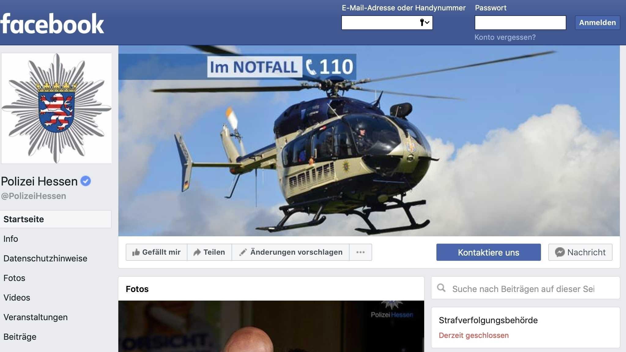 Hessen: Polizei kämpft in sozialen Netzwerken um die Wahrheit
