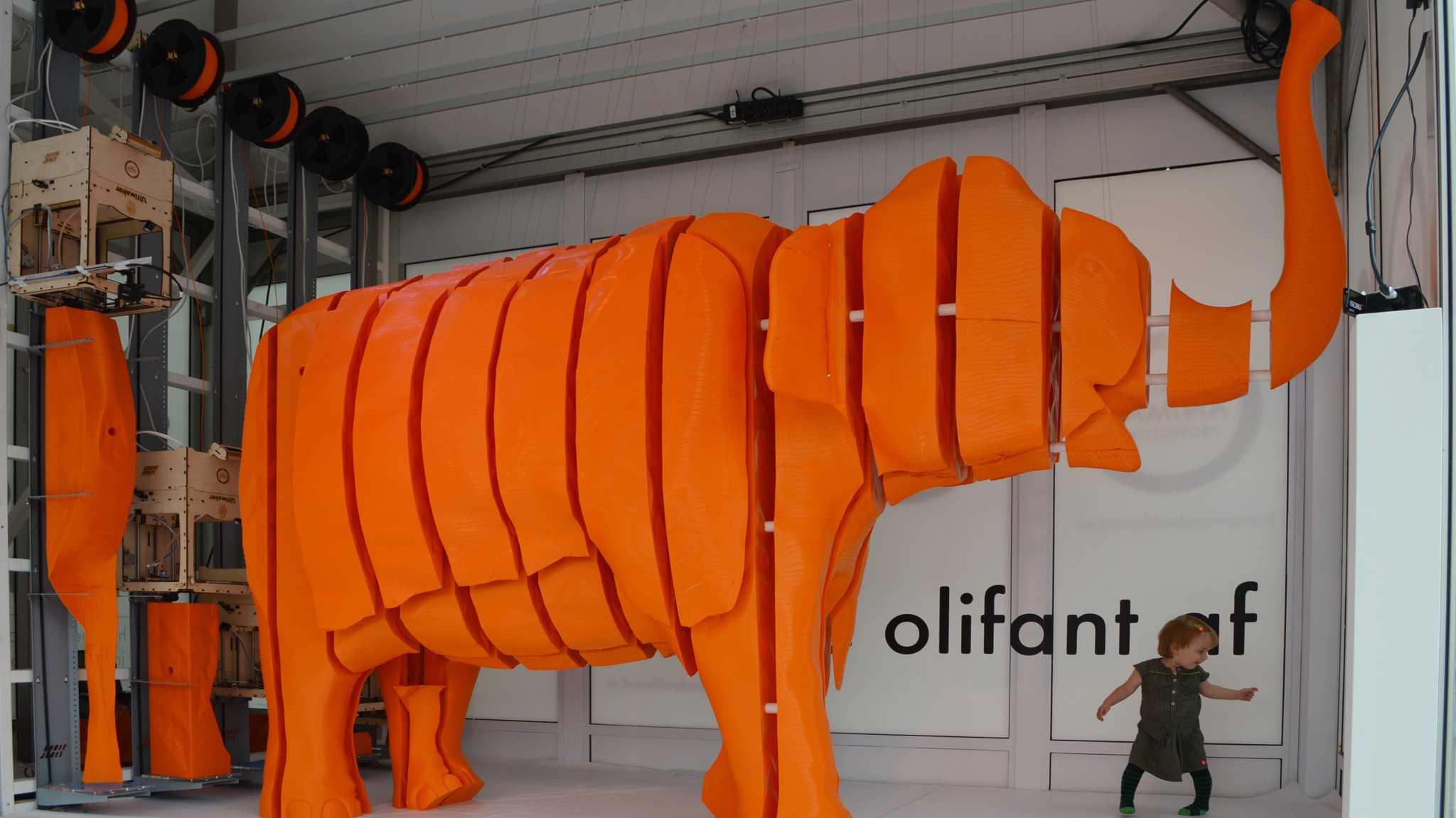 Elefantenhoch in 3D drucken mit dem Ultimaker
