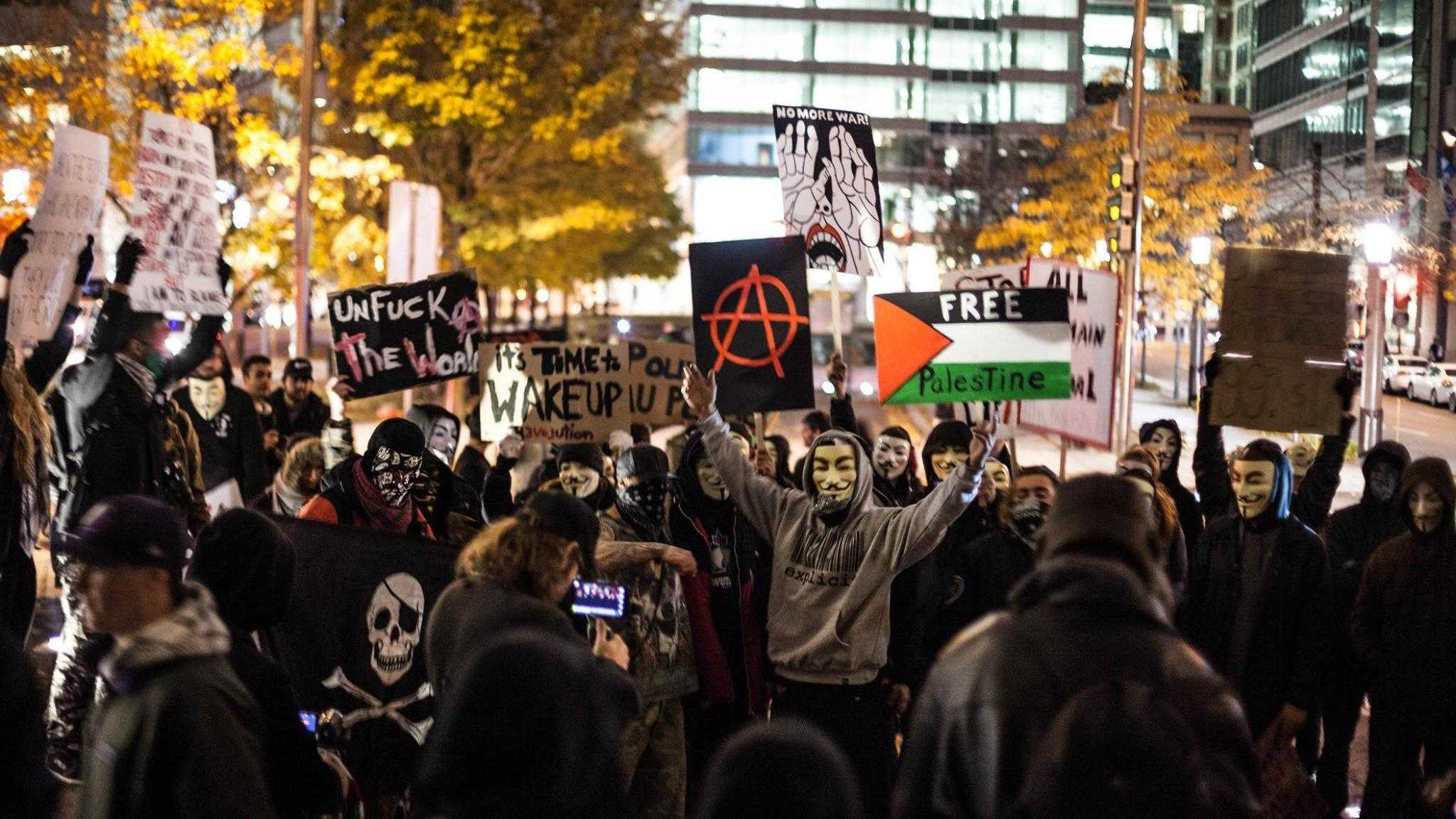 "Anonymous: Tausende Demonstrieren beim ""Million Mask March"""