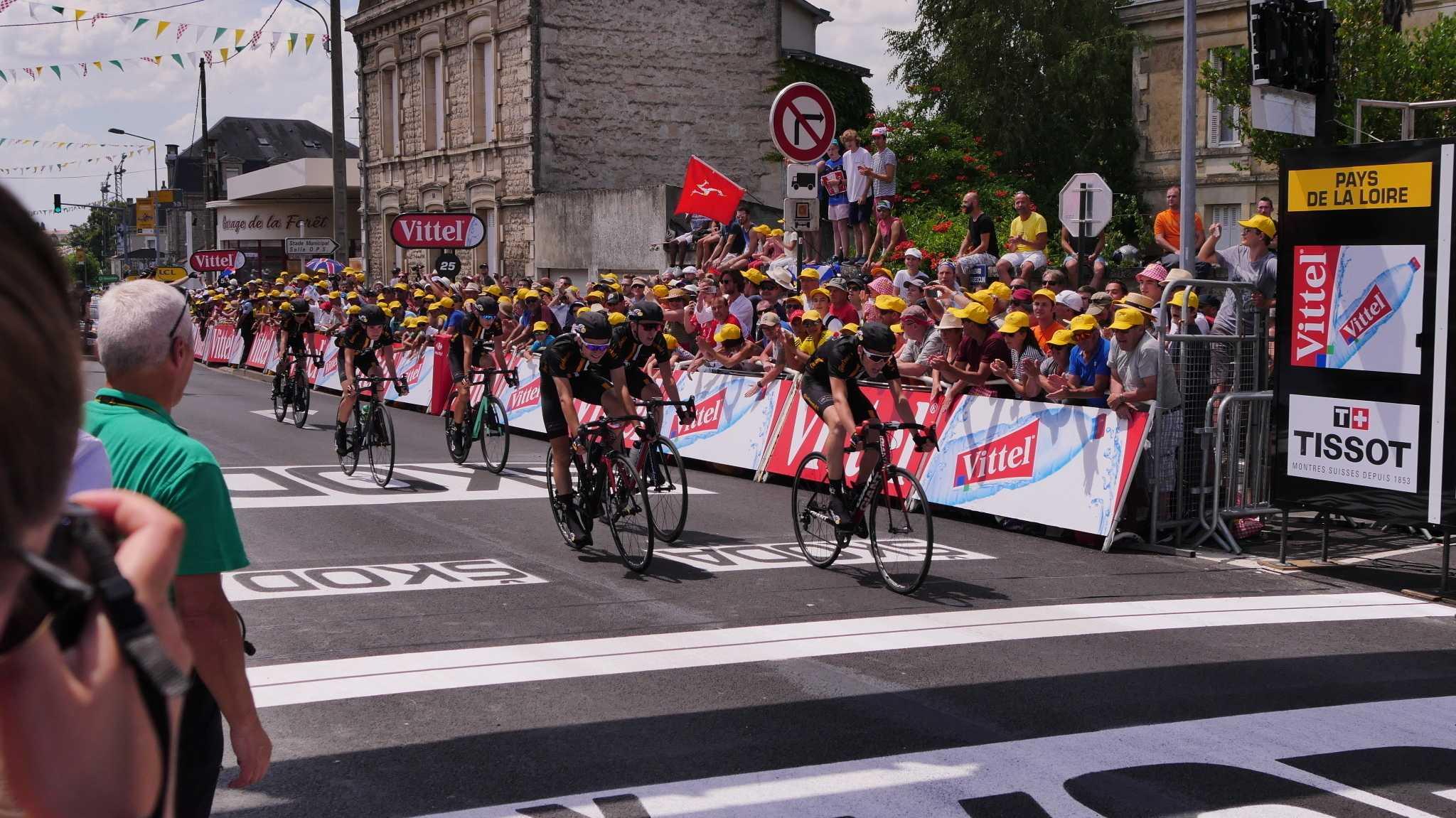 Zieleinfahrt bei der Tour de France