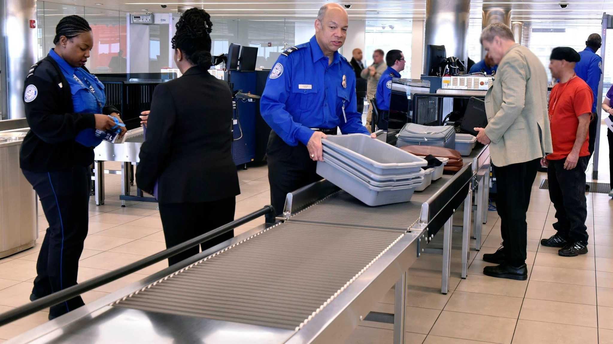 Sicherheitskontrolle am Flughafen Baltimore