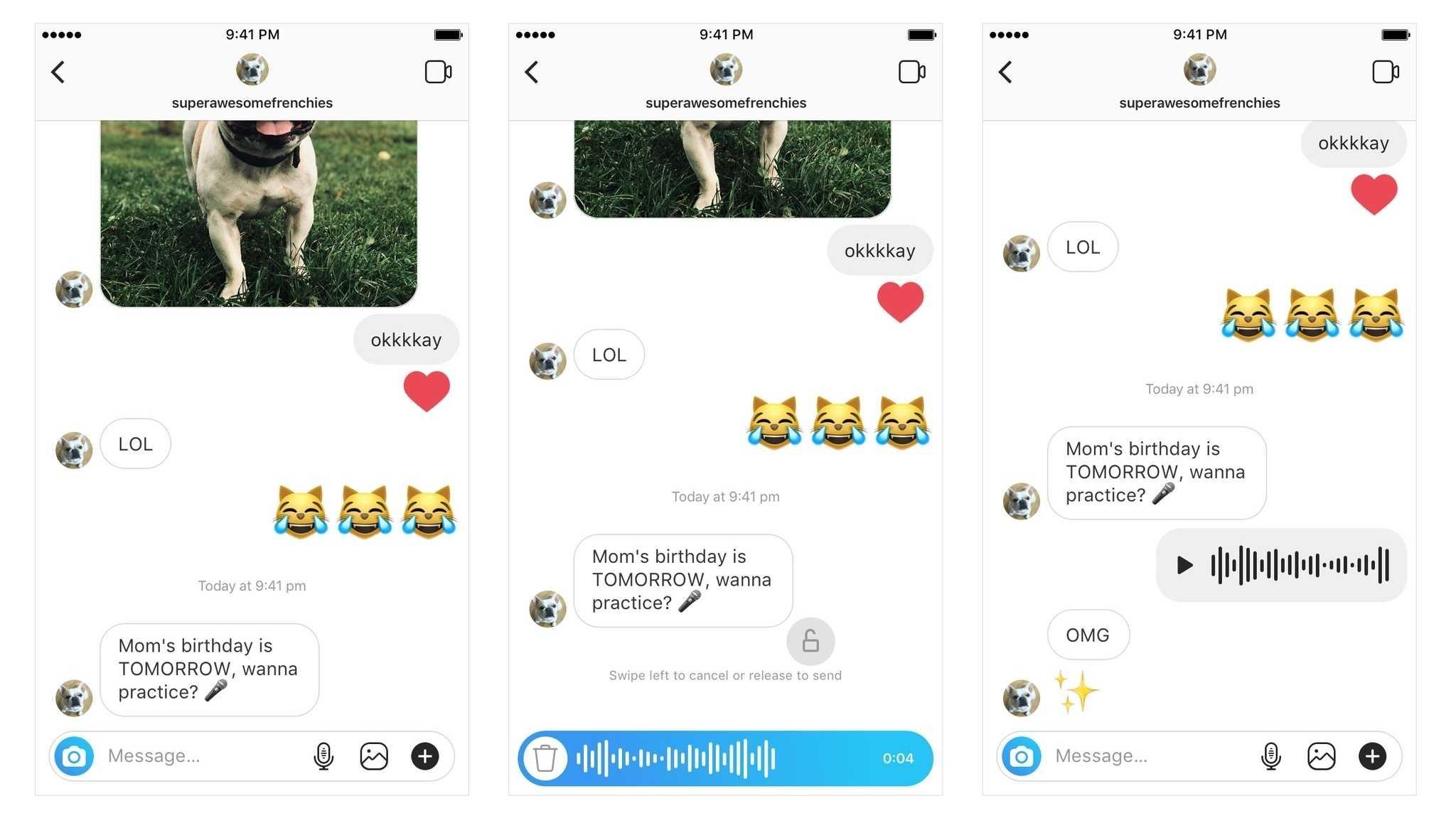 Instagram unterstützt ab sofort auch Sprachnachrichten
