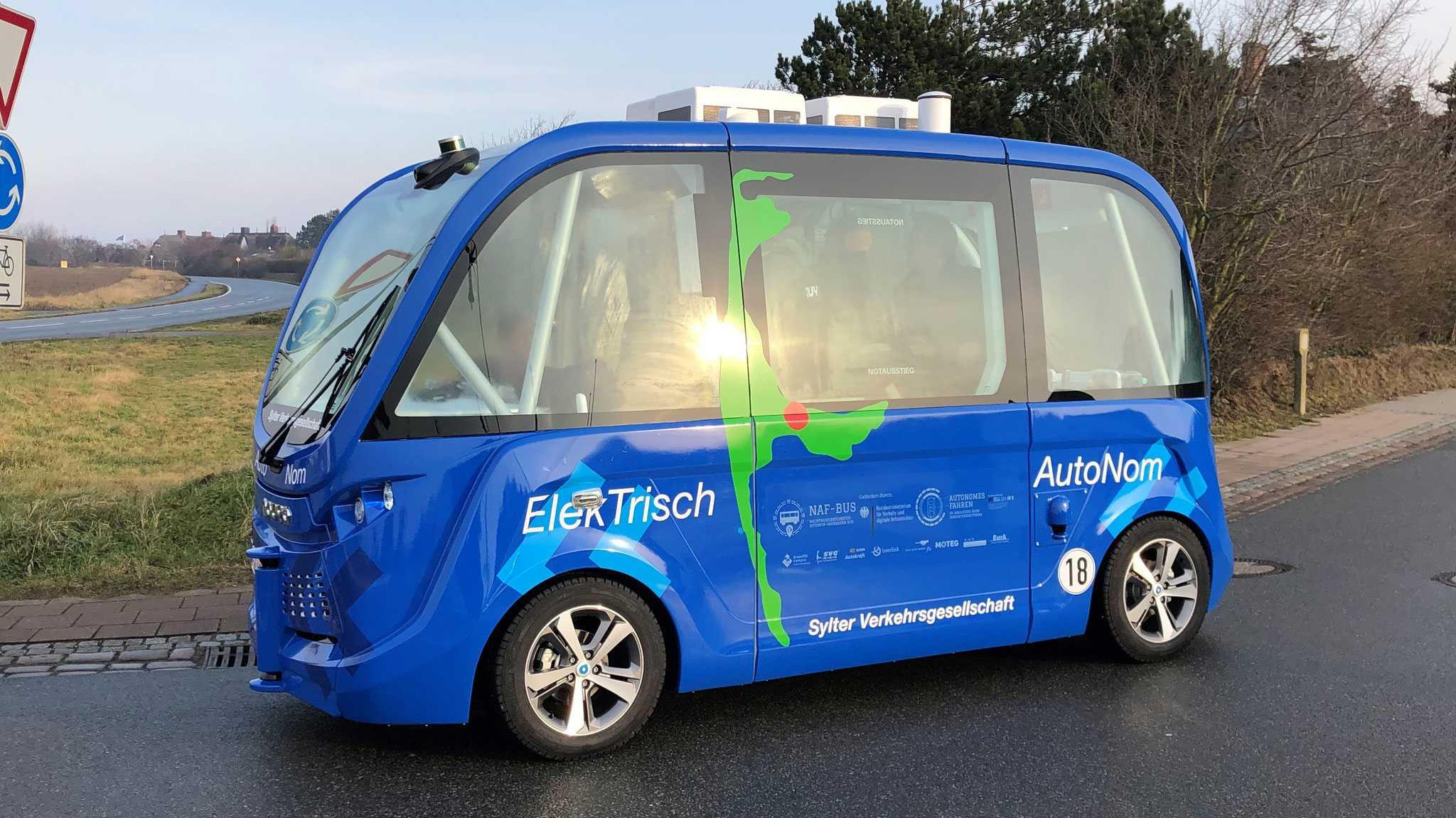 Autonomer Bus jetzt auf Sylt unterwegs