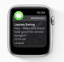 Ebenso wie iOS 12 fasst auch watchOS 5 die Mitteilungen einer App zusammen.