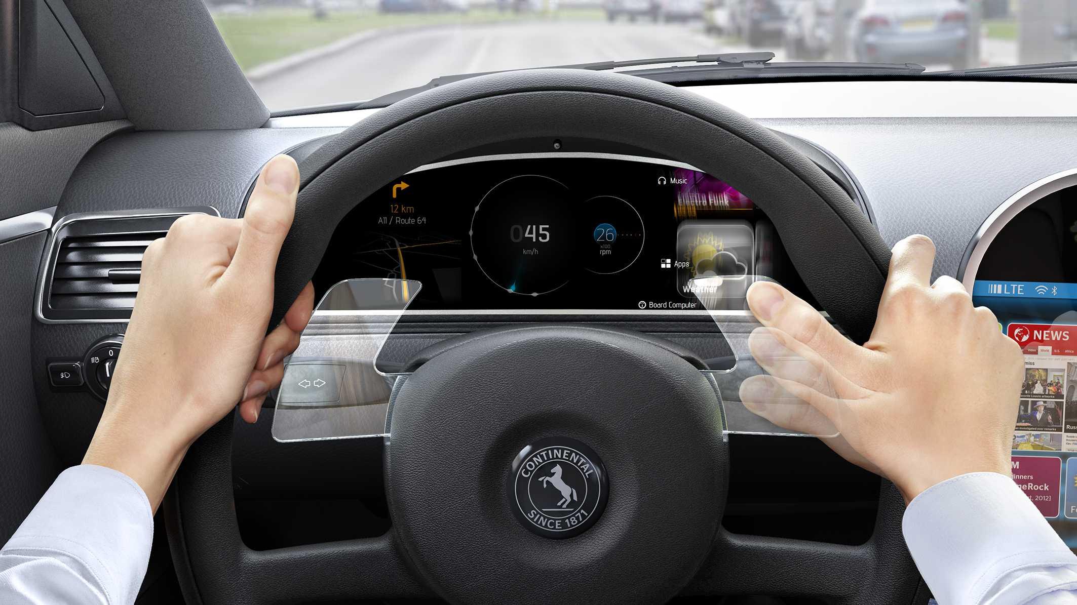 Continental integriert Gestensteuerung ins Lenkrad