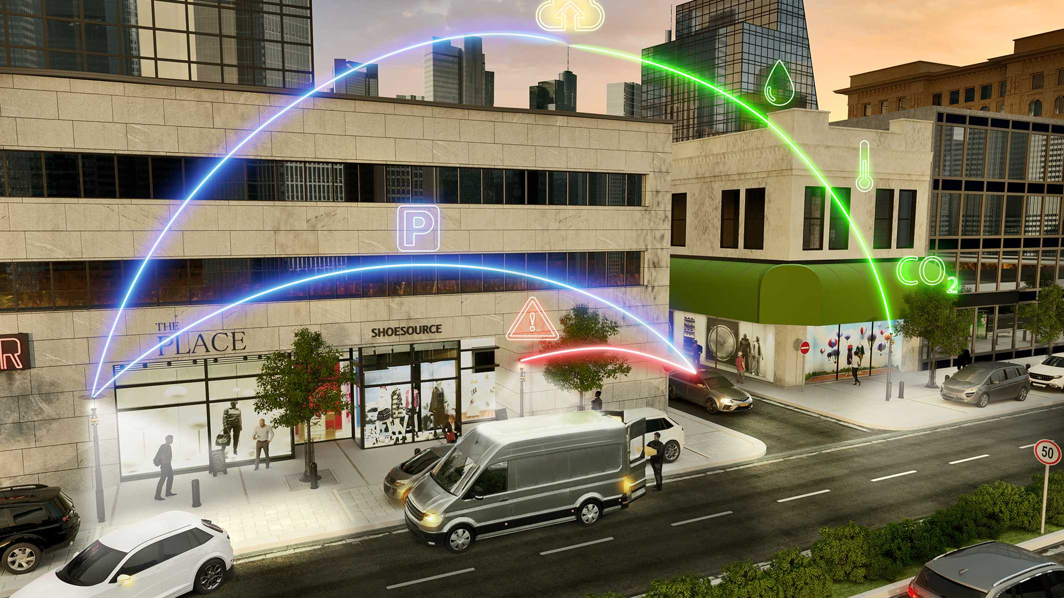 Smarte Straßenlaterne von Continental