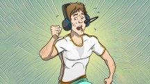 Fünf bequeme Kopfhörer mit Mikrofon für extra lange Videokonferenzen