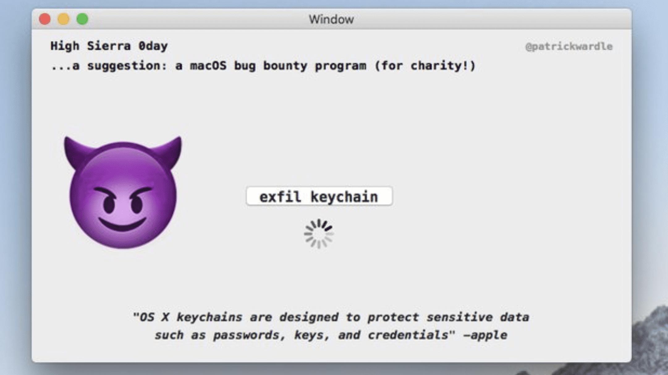 Schwachstelle in macOS bis High Sierra: Apps können alle Schlüsselbund-Passwörter klauen