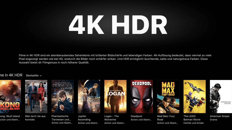 4K-Filme im iTunes Store: Kein Download, keine Wiedergabe auf PCs und Macs