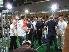 Das German Team feiert den zweiten Weltmeistertitel.