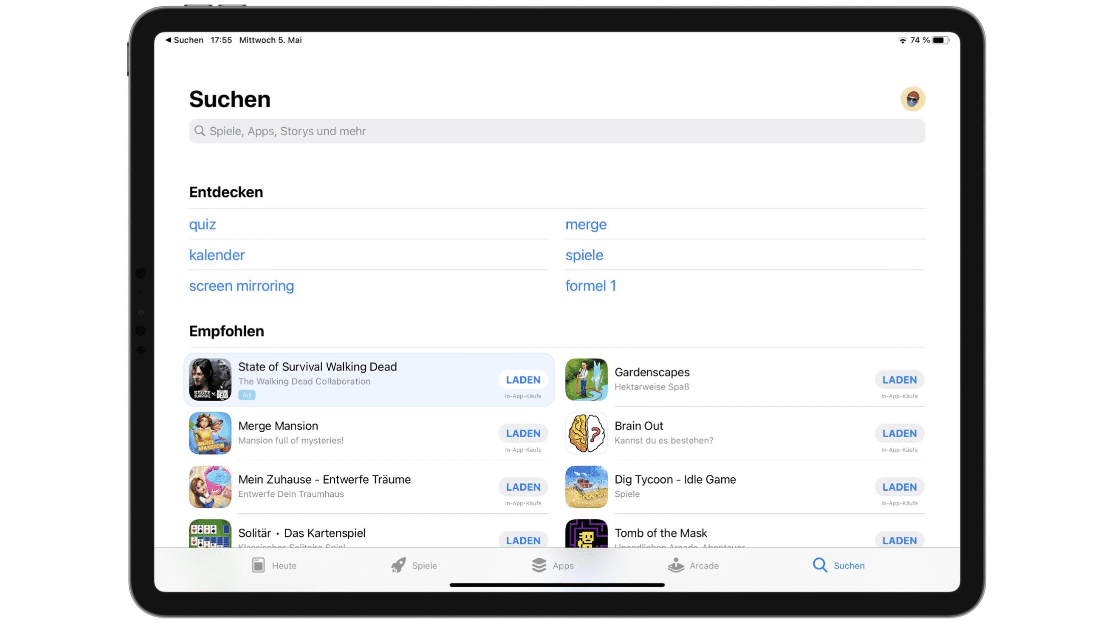 App Store Werbung