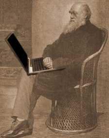 Ein Notebook mit Internetanschluss hatte Darwin auf seiner Reise nicht dabei, dafür aber eine stattliche Bibliothek