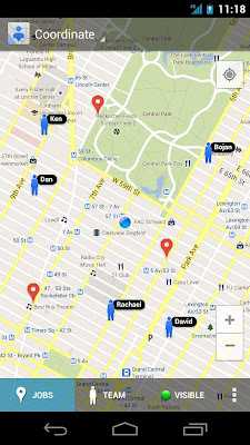 Screenshot der Maps-Coordinate-App