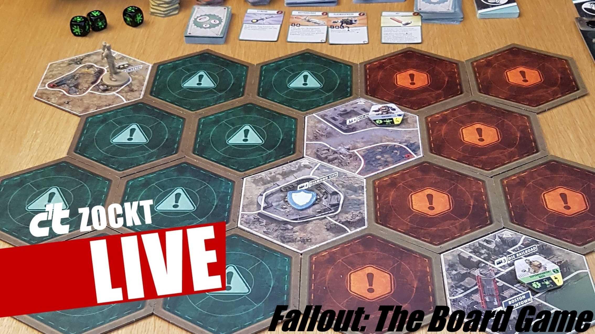 c't zockt LIVE Fallout: The Boardgame - Mit Würfeln im Wasteland