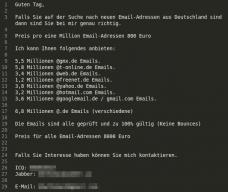 Unbekannte Bieten 33 Millionen E Mail Adressen Feil Heise Security