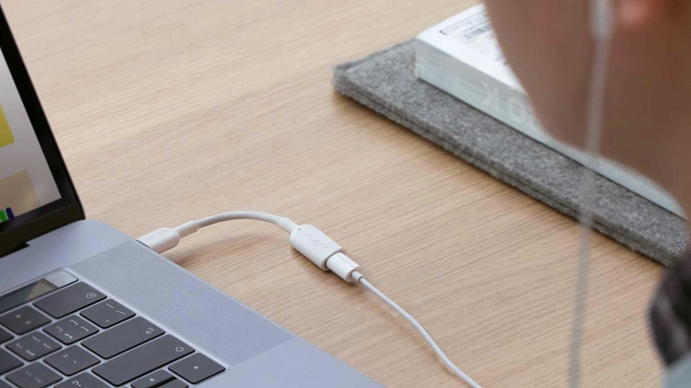 Offizieller Lightning-nach-USB-C-Adapter für Kopfhörer