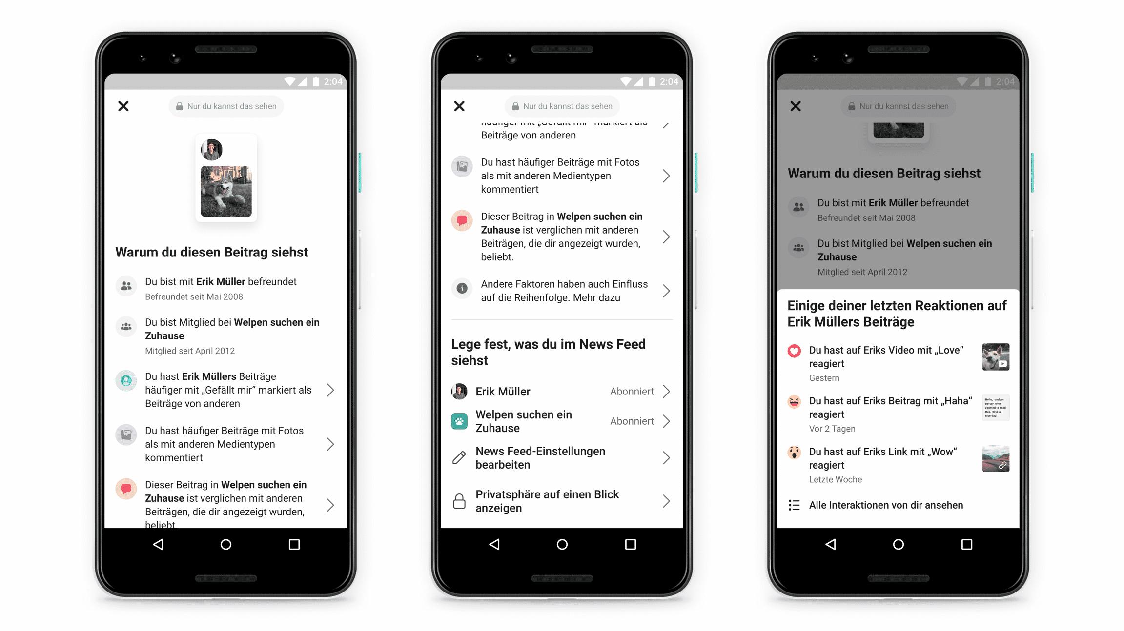 Facebook will Auswahl von Beiträgen in der App erklären