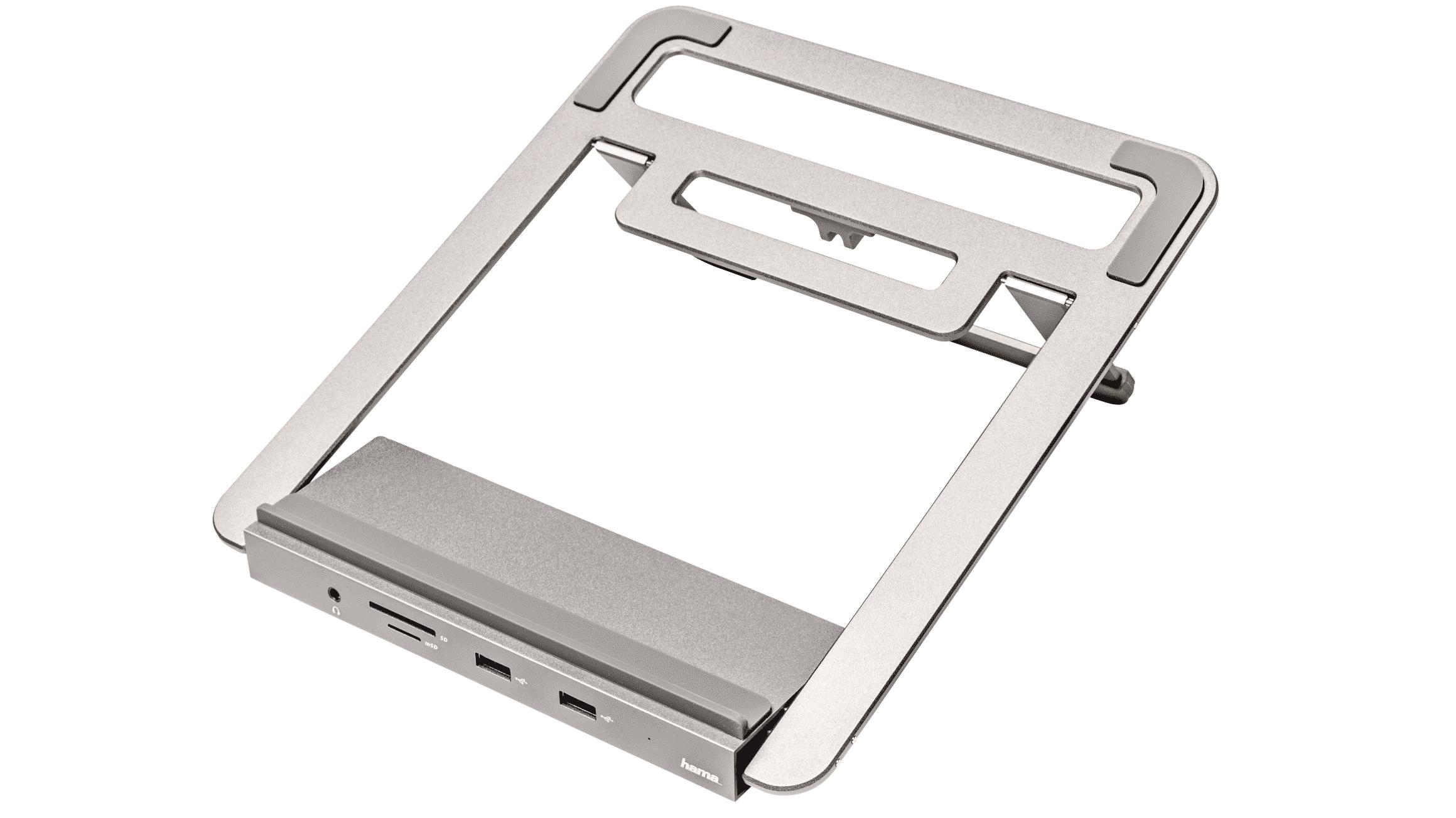 Hama USB-C-Docking-Station mit Notebook-Stand