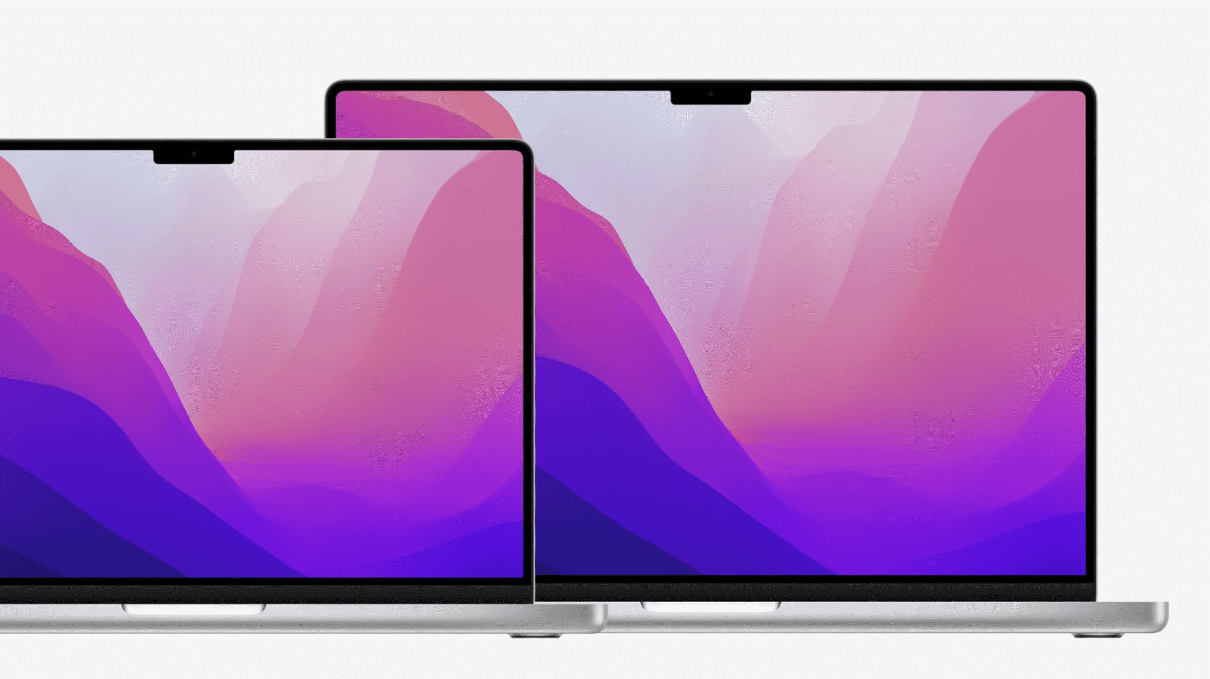 MacBook Pros mit Notch