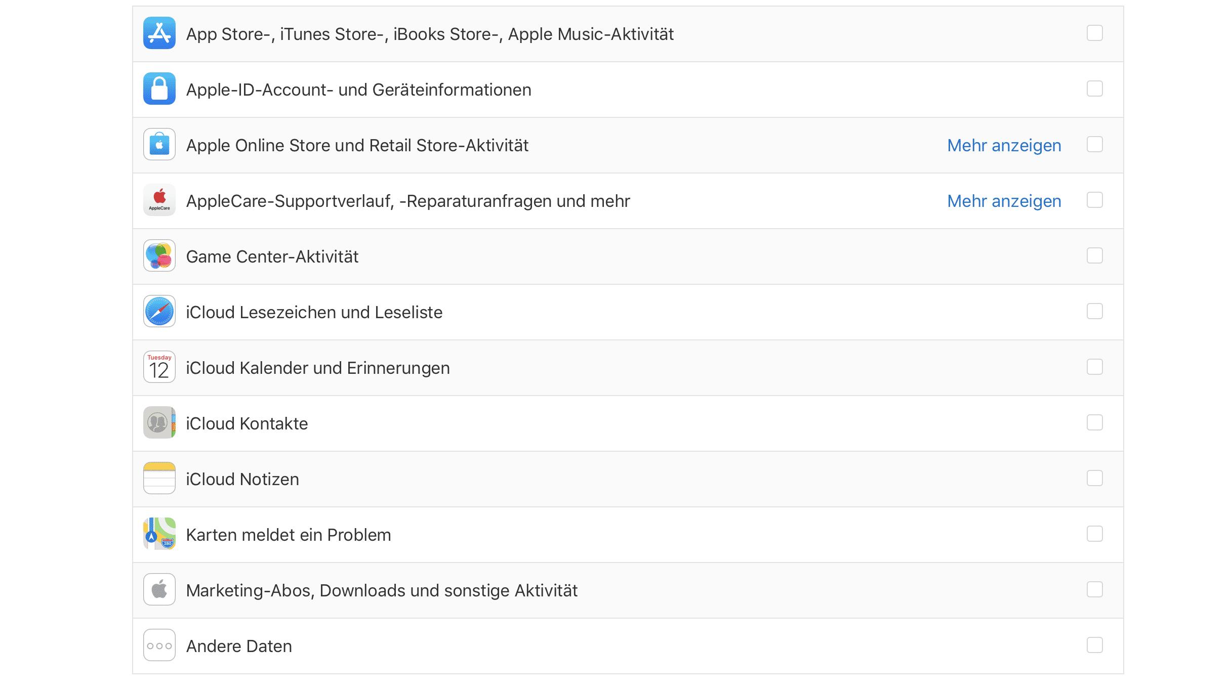 Apples DSGVO-Tool: Was Apple alles über mich weiß