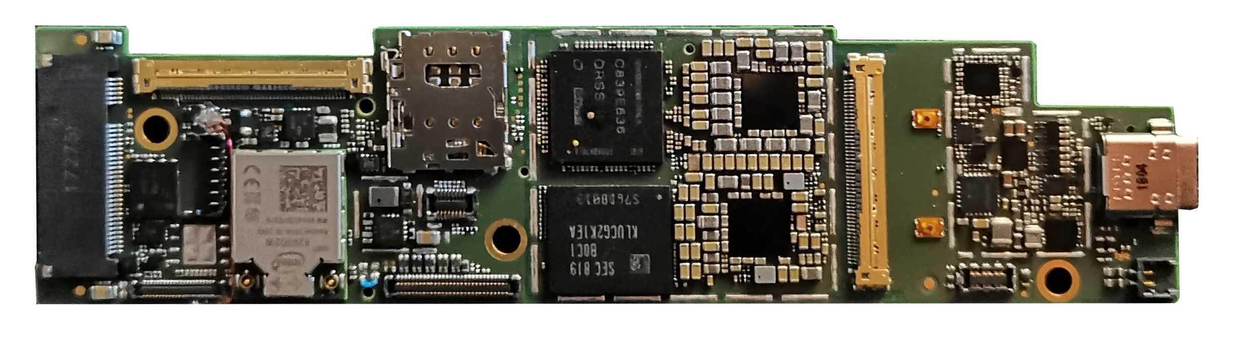 Die gesamte Lakefield-Hauptplatine ist kaum größer als eine M.2-SSD: