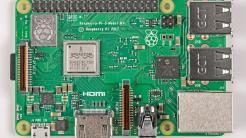 Platine des Raspberry 3BP von oben