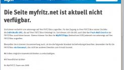 Webseite des Dyndns-Dienstes myfritz.net gestört