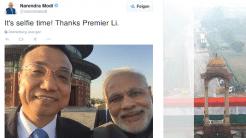 Selfie-Diplomatiie: Premierminister lachen in Kamera