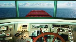 Cockpit eines Boots