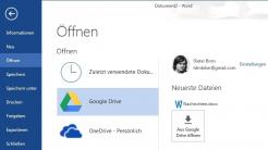 Plug-in Microsodr Office Google Drive