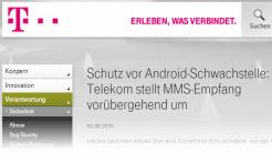 Telekom schaltet MMS wegen Android-Lücken ab