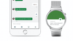 Android-Wear-Uhr am iPhone