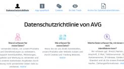 Dateschutzrichtlinie von AVG