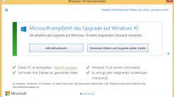 Upgrade auf Windows 10 per Doppelklick verhindern
