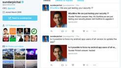 Dritte verschafften sich Zugang zum Twitter-Account von Google-Chef
